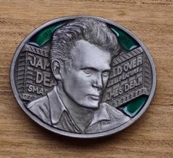 """Artiesten gesp / buckle  """" James Dean """"  Zilver / groen"""
