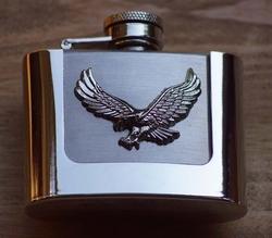 """Buckle / gesp  """" Drankflesje met vliegende adelaar """""""