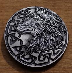 """Buckle / gesp  """" Tattoe wolvenkop"""""""