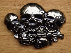 "Belt buckle  "" 3 Doodskoppen  """
