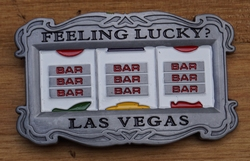 "Belt buckle  "" Feeling lucky,  Las Vegas ""   Speelkast"