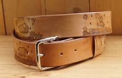 "Lederen riem "" Landschap mount ""  Tan"