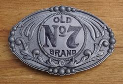 "Jack Daniels buckle  "" Old no 7 brand """