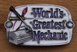 "Losse gesp  "" Worlds greatest mechanic """