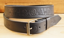 "Lederen riem ""  King - Road  ""  Zwart"