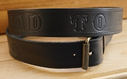 "Lederen riem ""  Bad to the bone ""  motor  Zwart"