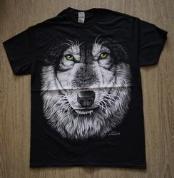 """T shirt """"  Wolvenkop """"   Zwart"""