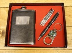 "Geschenkset  "" RSV heupflesje + Nagelknipper + kompas """