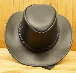 """Leren hoed  """" Zwart """""""