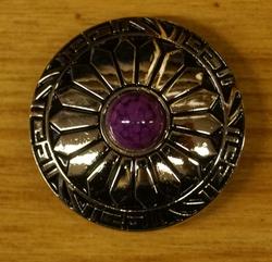 "Concho "" Western styl met paarse steen """