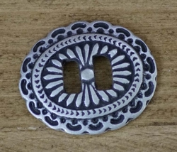 """Slotted concho """" Ovaal  """" Zilver kleurig"""