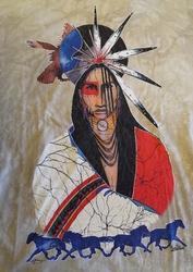 """T shirt """"  Indiaan """"   Beige"""