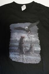 """T shirt """"  Wolven met adelaar """"  Zwart"""