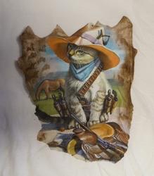 """T shirt """"  Western kat """"   Wit"""