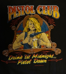 "T shirt ""  Pistol club ""  Zwart"