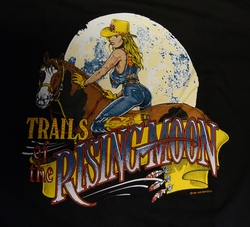 "T shirt ""  Trails of the rising moon ""  Zwart"