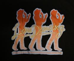 """T shirt """"  Line dancing """"  Zwart"""