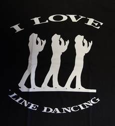 "T shirt ""  I love line dancing ""  Zwart"