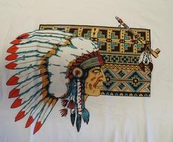 """T shirt """"  Indiaan met vredepijp  """"  Wit"""