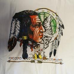"""T shirt """"  Indiaan met mandela  """"  Wit"""