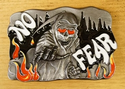 "Belt buckle   "" No fear """