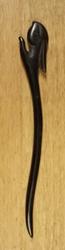 """Haarstokje  """" Konijnenkop """"  Zwart"""