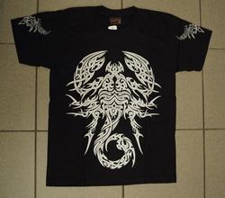 """T-shirt """" Keltische schorpioen """" Zwart"""