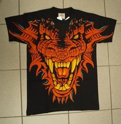 """T-shirt """" Drakenkop """" Zwart"""