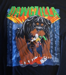 "T-shirt "" Dawgzilla "" Zwart"
