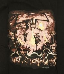 """T-shirt """" Draak met viking skeletten """" Zwart"""