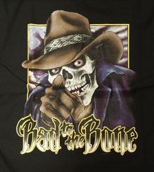 "T-shirt "" Bad to the bone "" Zwart"