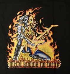 "T-shirt "" Metal knows no mercy "" Zwart"