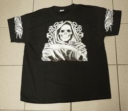 """T-shirt """" Grim met zeis """" Zwart"""