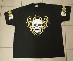 """T-shirt """" Doodskop met keltische tekens """" Zwart"""