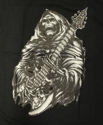 """T-shirt """" Grim met gitaar """" Zwart"""