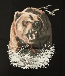 "T-shirt "" Grommende beer "" Zwart"