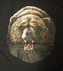 """T-shirt """" Grommende berenkop """" Zwart"""