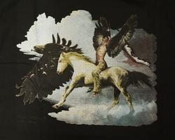 """T-shirt """" Indiaan met adelaarsvleugels """" Zwart"""