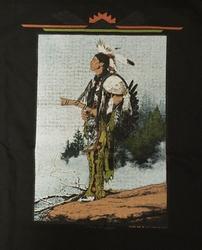 """T-shirt """" Indiaan """" Zwart"""