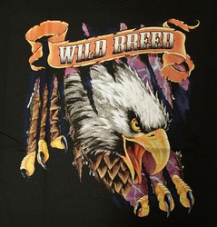 "T-shirt "" Adelaar Wild breed "" Zwart"