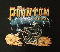 "T-shirt "" Phantom rider "" Zwart"