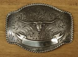 """Sterling zilveren buckle """" Stierenschedel """""""