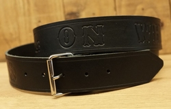 "Lederen riem ""  Hell on wheels ""   Zwart"