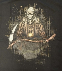"""T-shirt """" Grim """" Zwart"""