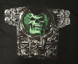 """T-shirt """" Robot doodskop """"  Zwart"""