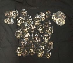 """T-shirt """" Piraten doodskoppen """"  Zwart"""