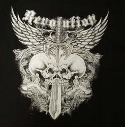 """T-shirt """" Revolution """"  Zwart"""