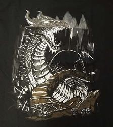 """T-shirt """" Dragon """"  Zwart"""