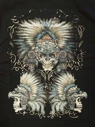 "T-shirt "" Indianen schedels ""  Zwart"