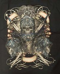 """T-shirt """" Doodskoppen ridder """"  Zwart"""